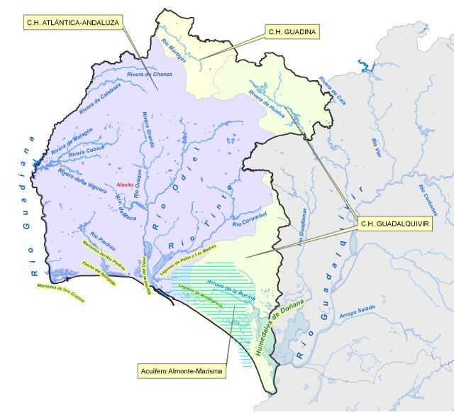 Huelva-Hidrografía