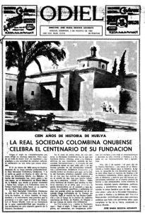 portada odiel centenario soc colombina onubense