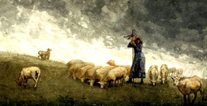 pastora-con-las-ovejas